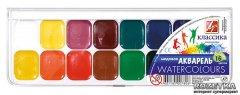 Краски акварельные Луч Классика 16 цветов в пластиковой упаковке (19С1290-08) (4601185007806)