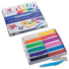 Пластилин Луч Классика + стек 12 цветов 240 г (7С331-08) (4601185000821)