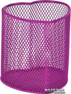 Металлическая подставка-стаканчик для ручек ZiBi Сердце Розовая (ZB.3102-10)