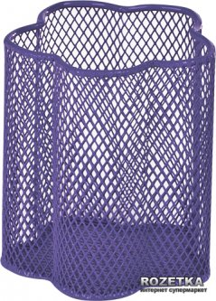 Металлическая подставка-стаканчик для ручек ZiBi Цветок Фиолетовая (ZB.3101-07)