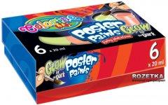 Краски гуашевые люменисцентные Colorino 6 цветов 20 мл в картонной упаковке (42635PTR)