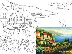Холст Rosa Start Морской пейзаж №2 на картоне с контуром 30 х 40 см (4820149894607)