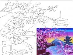 Холст Rosa Start Пейзаж №16 на картоне с контуром 30 х 40 см (4820149889962)