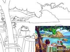 Холст Rosa Start Морской пейзаж №4 на картоне с контуром 30 х 40 см (4820149894621)