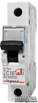 Автоматический выключатель Legrand C16 1P 6 kA (404028)