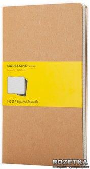 Блокнот Moleskine Cahier 9 х 14 см 64 страницы в клетку Бежевый 3 шт (9788883704932)