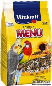 Повседневный корм для нимф и больших попугаев Vitakraft Menu 1 кг (4008239210036)