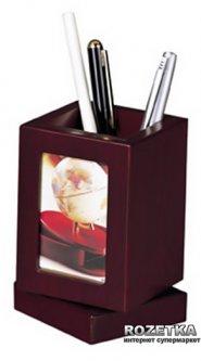 Вращающаяся подставка для ручек с фоторамкой Bestar Красное дерево (1591FDU)