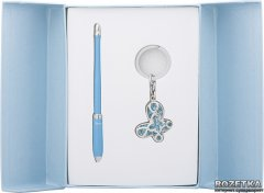 Набор подарочный (ручка шариковая + брелок) Langres Night Moth Синий (LS.122018-02)