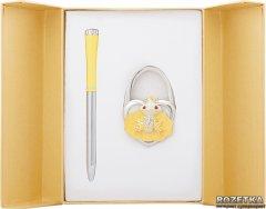 Набор подарочный (ручка шариковая + крючок для сумки) Langres Fairy Tale Желтый (LS.122027-08)