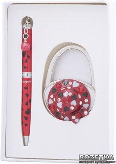 Набор подарочный (ручка шариковая + крючок для сумки) Langres Elegance Красный (LS.122029-05)