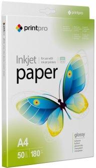 Фотобумага PrintPro A4 180 г/м2 50 листов Глянцевая (PGE180050A4)