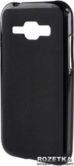 Панель Drobak Elastic PU для Samsung Galaxy J1 J100H/DS Black (216941)