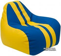 Кресло-Груша Примтекс Плюс Simba Sport H-2240/H-2227 S Yellow-Blue (ordf)