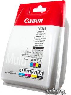 Набор картриджей Canon CLI-471 for TS6040 Multi Pack Cyan/Magenta/Yellow/Black (0401C004)