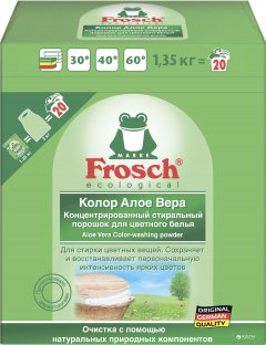 Стиральный порошок-концентрат Frosch Колор Алоэ Вера 1350 г (4001499145698)