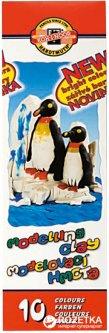 Пластилин Koh-i-Noor Пингвины 10 цветов 200 г (131506)