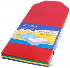 Пластиковые разделители Economix 240 х 105 мм с наклейками 100 штук (E30810)