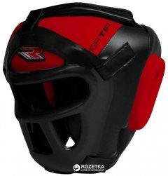 Боксерский шлем RDX Guard Red L тренировочный Черно-красный (590_10502)