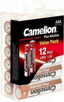 Батарейки Camelion Plus Alkaline AAA (LR03) 12 шт (LR03-PBH12)