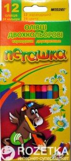 Карандаши цветные Marco Пегашка 12 штук/24 цвета (1011-12СВ)