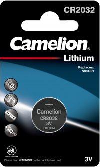 Батарейка Camelion Lithium Button CR2032 1 шт (CR2032-BP1)