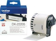 Лента цельная бумажная Brother DK22205 62 мм 30.48 м