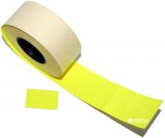 Этикет-лента Aurika 26х16 мм 1000 этикеток прямоугольная 25 шт Yellow (2616Y)