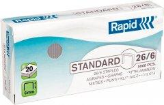 Cкобы Rapid Standard 26/6 5000 штук (24861800)
