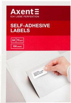 Набор этикеток самоклеящихся Axent 100 листов А4 38.1х21.2 мм Белые (2469-А)