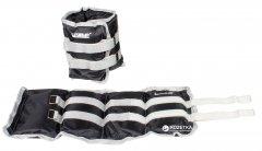 Утяжелители LiveUp Wrist/Ankle Weights 2 шт по 3 кг Black-Grey (LS3011-3)