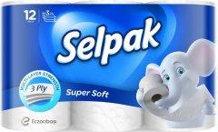 Туалетная бумага Selpak трехслойная Белая 12 рулонов (8690530204508)