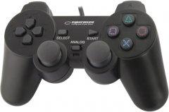 Проводной геймпадEsperanza Vibration PC/PS2/PS3 Black (EG106)