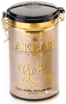 Чай черный листовой Akbar Gold 450 г в жестяной банке (5014176001780)