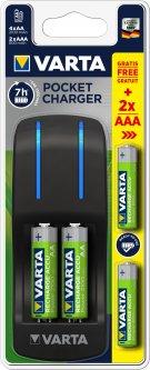 Зарядное устройство Varta Pocket Charger АА 4x2100 + ААА 2х800 мАч NI-MH (57642301431)