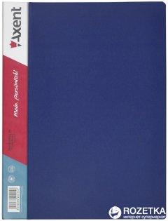 Папка пластиковая Axent А4 60 файлов Синяя (1060-02-А)