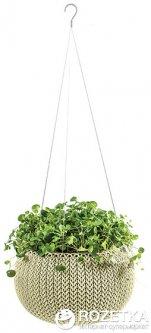 Горшок для растений Keter Cozies S с цепочкой Бежевый (7290106931954)