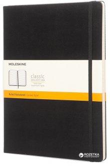 Записная книга Moleskine Classic 19 х 25 см 192 страницы в линейку Черная (9788867323067)