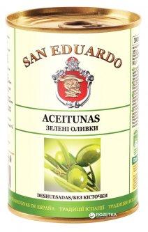 Оливки зеленые без косточки San Eduardo 300 мл (5060162904672)