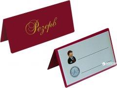 Настольная табличка Panta Plast 75 x 120 мм двухсторонняя винил Бордовая (0300-0073-10)