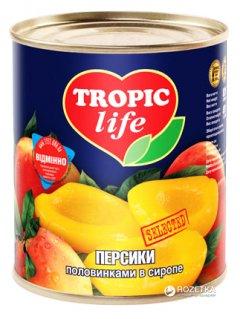 Персики половинками в сиропе Tropic Life 850 мл (4820086920124 / 5060162900919)