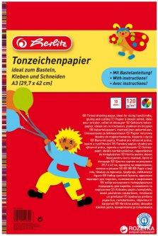 Цветной картон двусторонний Herlitz A3 120 г/м2 10 листов 10 цветов (229302)