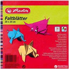 Цветная бумага для оригами Herlitz 20х20 см 100 листов (247619)