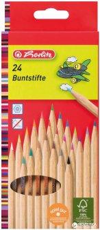 Карандаши цветные Herlitz Natural 24 цвета (8660524)