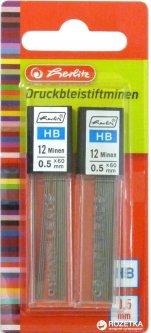 Набор грифелей к механическому карандашу 24 шт Herlitz HB 0.5 мм (8675217)