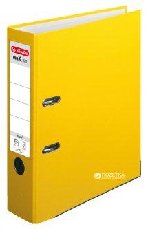 Папка-регистратор Herlitz maX.file Protect А4 80 мм Желтая (5481304)