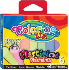 Пластилин Colorino Флуоресцентный 6 цветов 100 г (42680PTR)