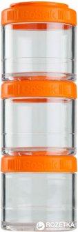 Контейнер для спортивного питания BlenderBottle GoStak 3 Pak 300 мл Оранжевый (GoStak 3 Pak 100cc оранжевый (ORIGINAL))