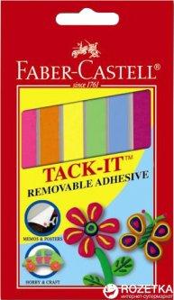 Многоразовая клейкая масса Faber-Castell Taсk-It Цветная 50 г (9556089794503)