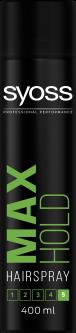 Лак для волос SYOSS Max Hold (фиксация 5) 400 мл (8410436135177)